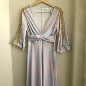 Vintage Maxi Dress 60s 70s Party Costume Small